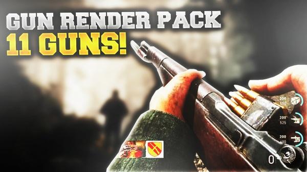WWII Gun Render Pack