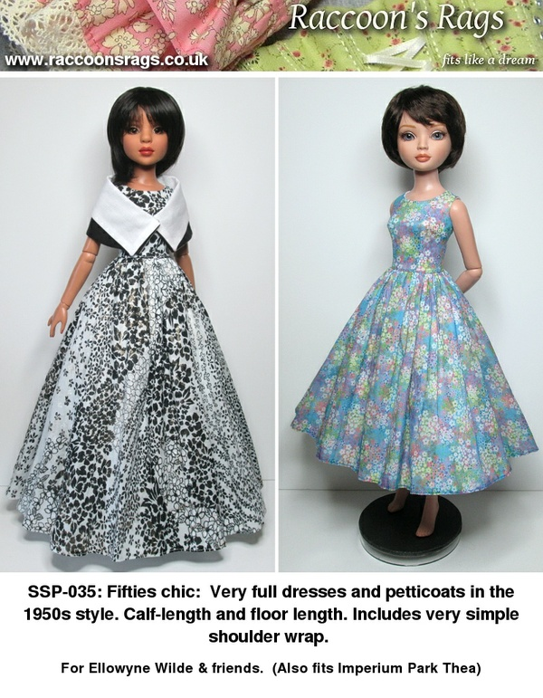SSP-035: 50s Chic: dresses and shoulder wrap for Ellowyne Wilde & friends.
