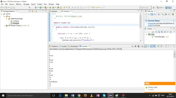 Java program that prints the integers from 1 to 100