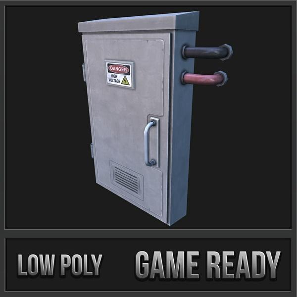 Electronic Box 5 | 3D Low Poly Model