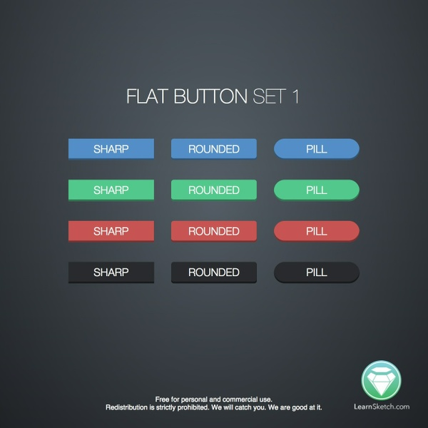 Flat Button Set 1