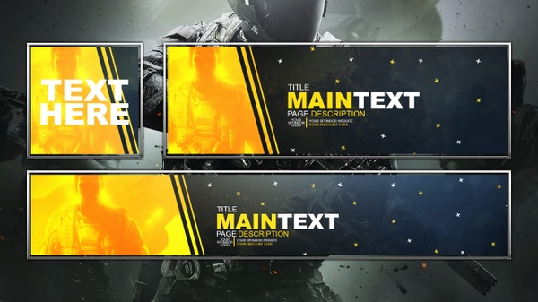 Infinite Warfare - Social Media Revamp Template Pack - Photoshop Template