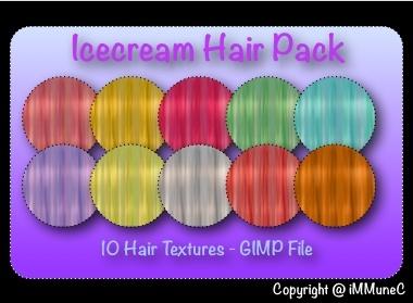 10 Icecream Hair Textures