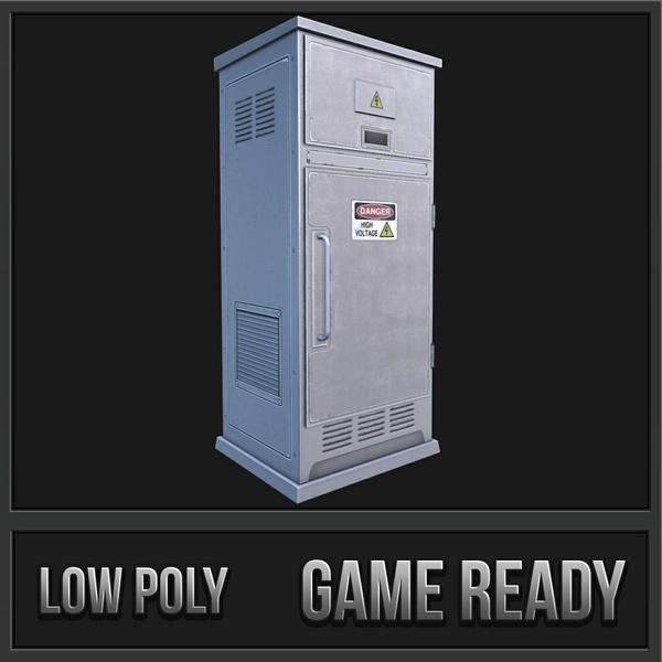 Electronic Box 4 | 3D Low Poly Model