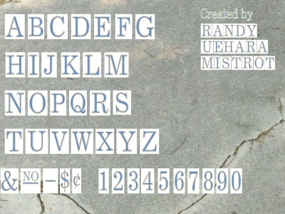 New Orleans Tile / Sidewalk Font Letters in AI format