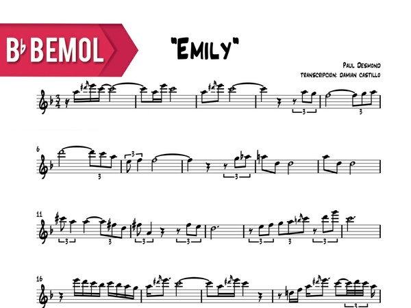 "Paul Desmond - ""Emily"" - Bb"