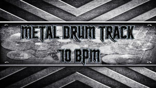 Metal Drum Track 70 BPM