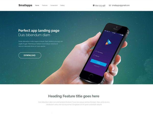 Smart App Responsive Bootstrap 3 App Landing Page
