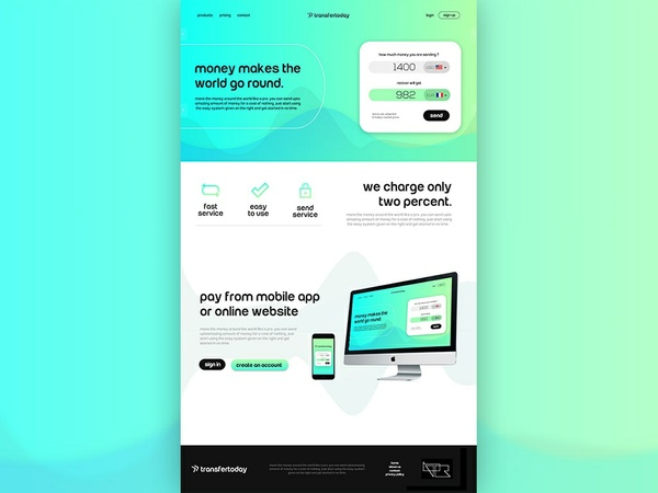 Moneytransfer website template
