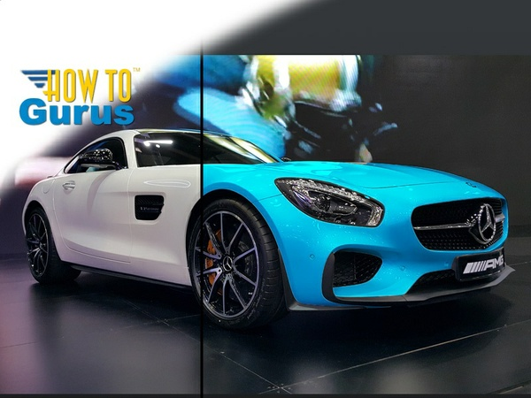 How to Change the Color of a White Car in Photoshop Elements 14 13 12 11 Tutorial