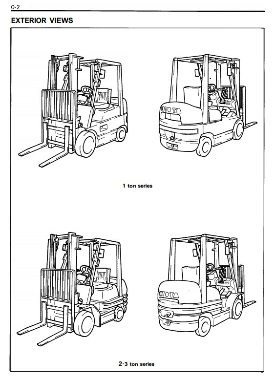 Toyota LPG Forklift Truck 6FGCU15, 6FGCU18,  6FGCU20, 6FGCU25,6FGCU30 Service Manual