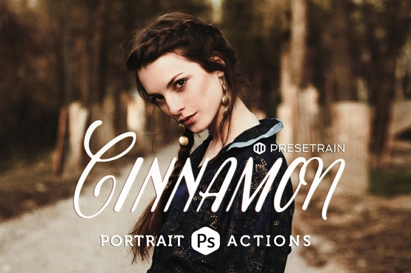 Cinnamon Portrait Photoshop Actions