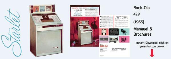 "Rock-Ola 429 ""Starlet"" (1965)  Manuals & Brochure"