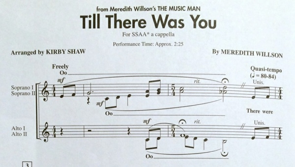 Till There Was You MP3 Audio Learning Tracks SSAA arr. Kirby Shaw