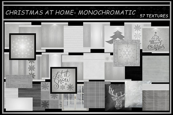 CHRISTMAS AT HOME ~ MONOCHROMATIC