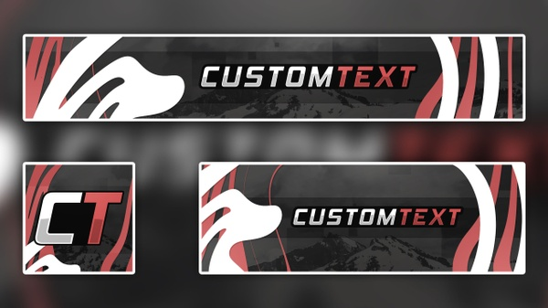 Customizable Premade Banner for Youtube and Twitter :: Abstract Design