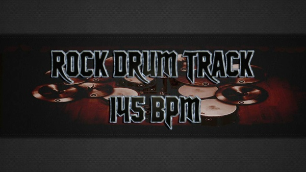Rock Drum Track 145 BPM