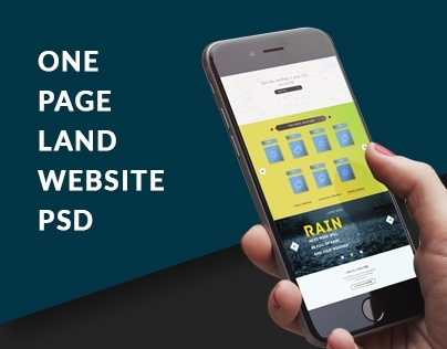 One Page Land Website Design Template | By ATT