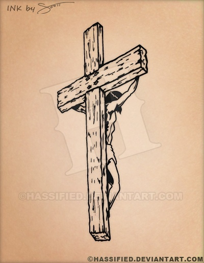 Jesus on the Cross  - printable, vector, svg, art