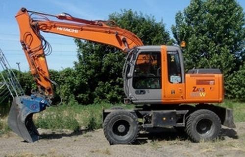 Hitachi Zaxis 130W Wheeled Excavator Workshop Manual Download