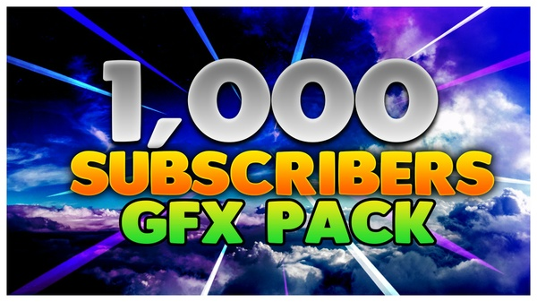 1,000 Subscribers GFX Pack! Graphics Pack 2017! Photoshop Graphics Packs Cheapest Graphic Pack $1!
