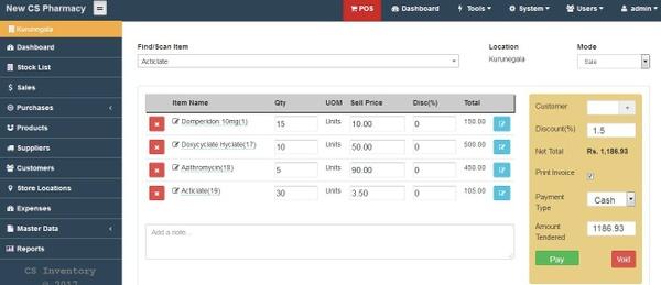 CS Pharma - Inventory Manager & POS system – Pharmacy Software & Tools