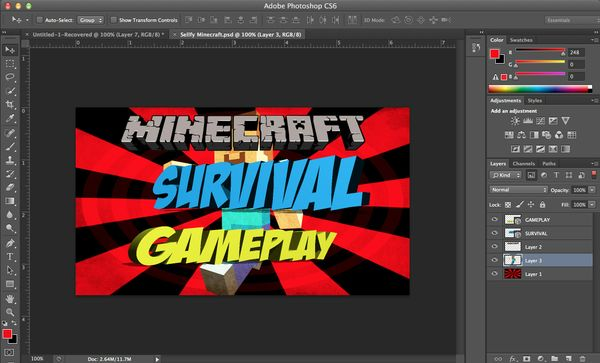 Minecraft Survival Gameplay Thumbnail