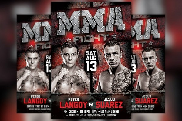 MMA Fight Flyer Template