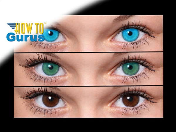 How do an Eye Color Change effect in Photoshop, a CS5 CS6 CC Tutorial