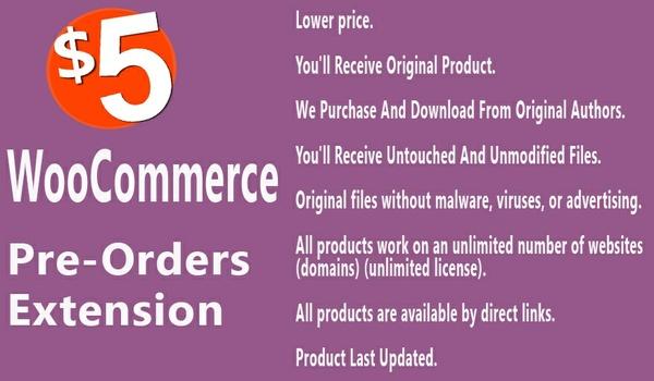 WooCommerce Pre-Orders Extension