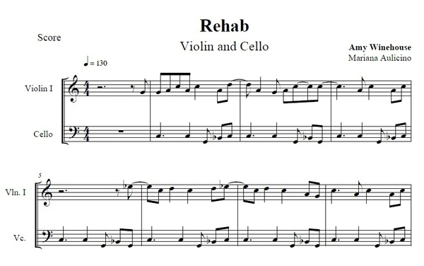 Rehab - Amy Winehouse - String duet