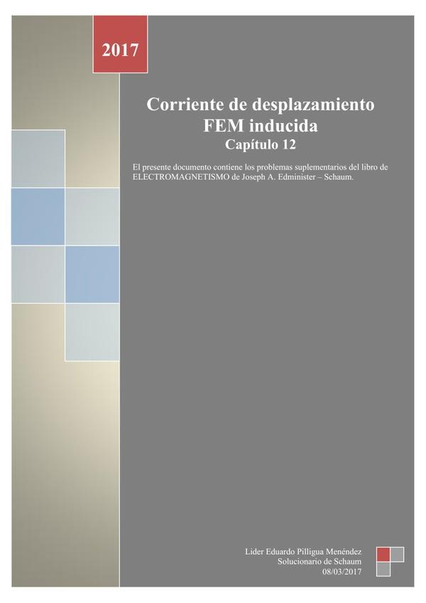 Capítulo 12 - Corriente de desplazamiento FEM inducida