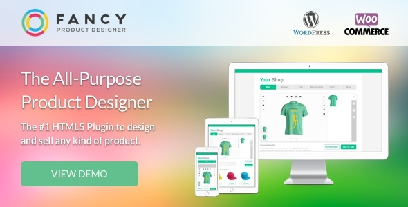 Fancy Product Designer 3.4.2 Premium WooCommerce WordPress Plugin
