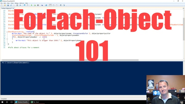 Companion PowerShell and CSV for video: PowerShell ForEach-Object