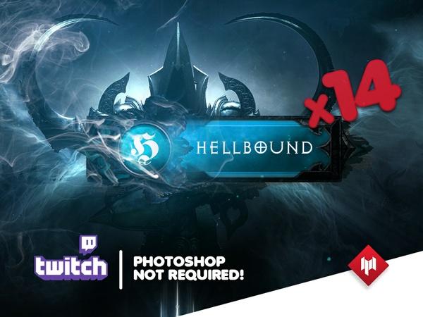 Twitch Panels | HellBound (x14) | BLUE - Diablo 3: Reaper of Souls