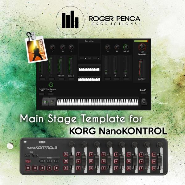 TEMPLATE Main Stage 3, Korg NanoKontrol.