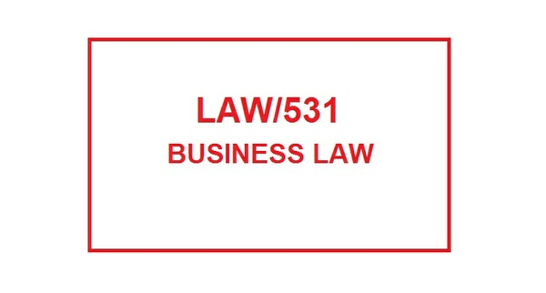 LAW 531 Week 1 Knowledge Check