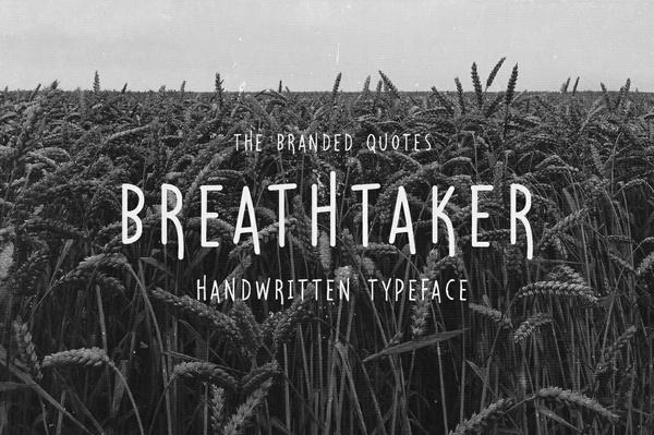 Breathtaker Typeface