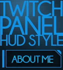 Twitch panel - Blue HUD style