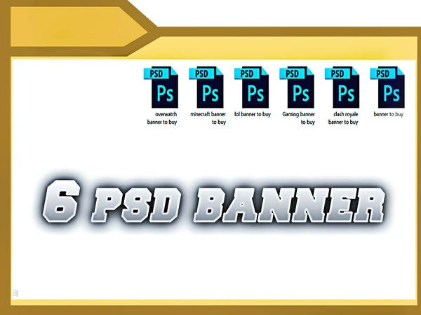 6 Banners psd
