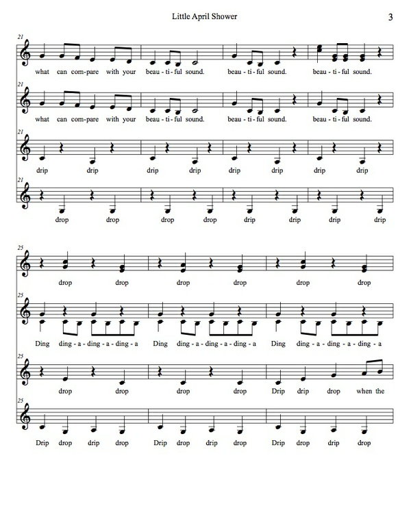 Little April Shower (transcription) SSAA