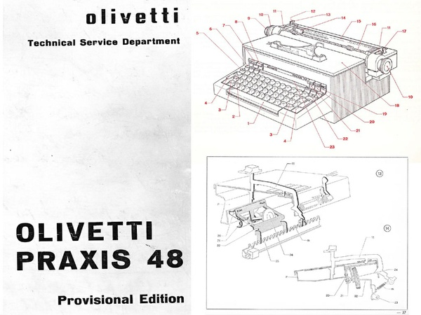 Olivetti Praxis 48 Electric Typewriter Service Repair Adjustment Manual