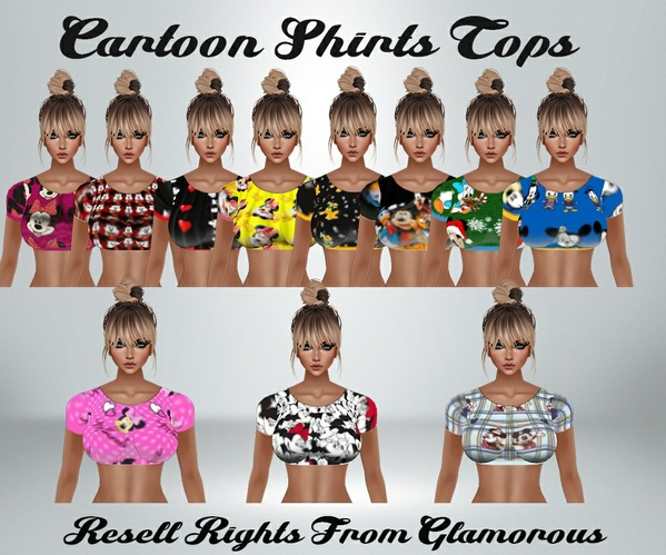 Cartoon Shirts top Catty Only!!!