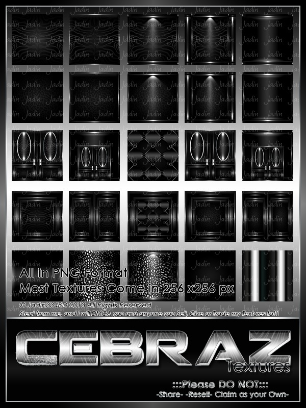 Cebraz Base Texture Pack -- $4.00