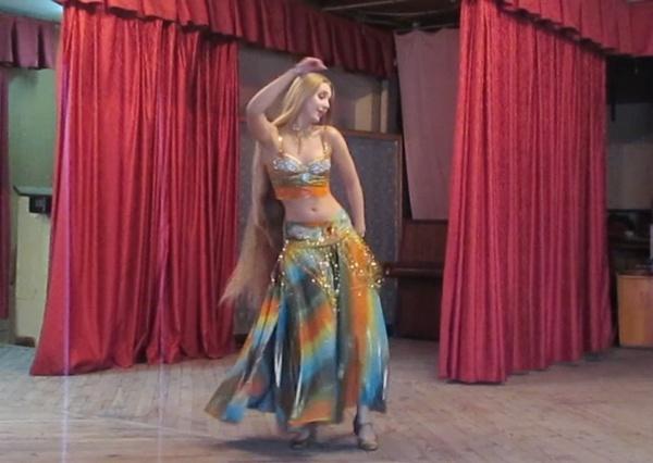 Milena Knyazheskaya - Drum Solo Belly Dance In Odessa [2016]