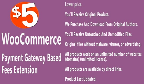 WooCommerce Payment Gateway based Fees Extension