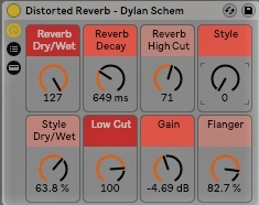 Distorted Reverb - Free Ableton Rack