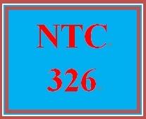 NTC 326 Week 2 Individual Configuration Scenario