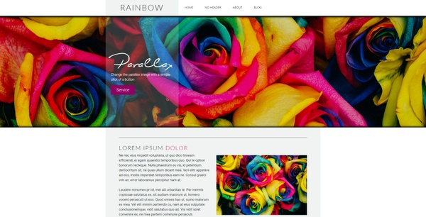 Rainbow Weebly Theme
