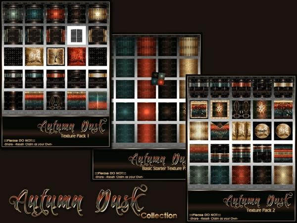 Autumn Dusk Texture Pack Collection-- $20.00